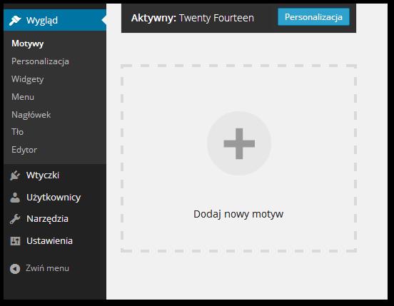 Instalacja nowych motywów do Wordpressa