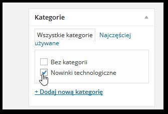 Edycja kategorii wpisu