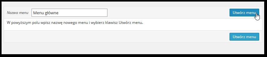 Tworzenie nowego menu