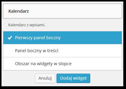 Dodawanie widgetów do WordPressa