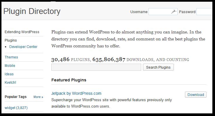 Wordpress - wtyczki na stronie