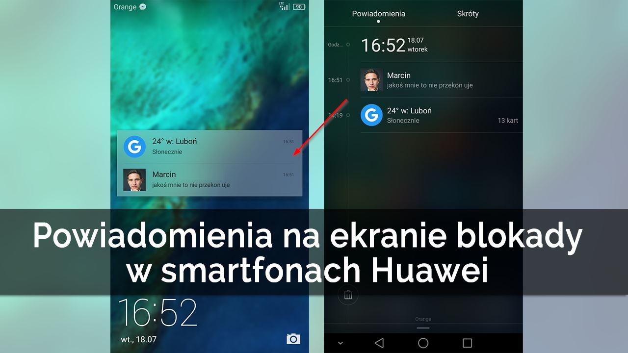 Jak włączyć powiadomienia na ekranie blokady w Huawei