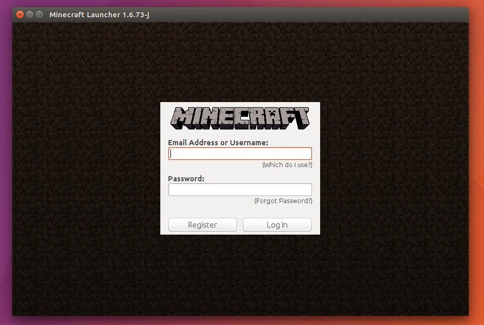 Włącz Minecrafta w Ubuntu