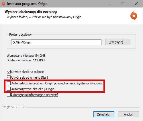 Instalator Origin