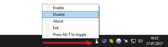 TouchDisable - szybkie wyłączanie ekranu dotykowego