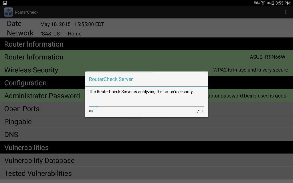 RouterCheck - sprawdzanie routera