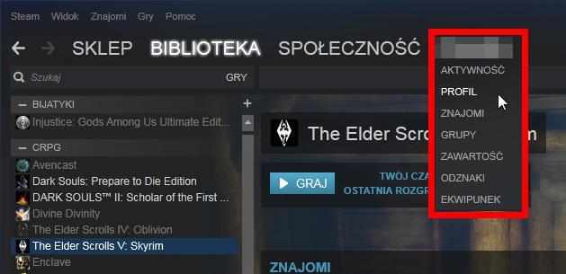 Wejdź do edycji swojego profilu Steam