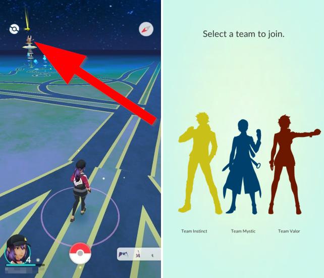 Wybór drużyny w Pokemon GO