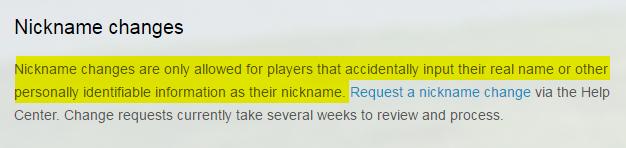 Oficjalna informacja odnośnie zmiany nicku w Pokemon GO