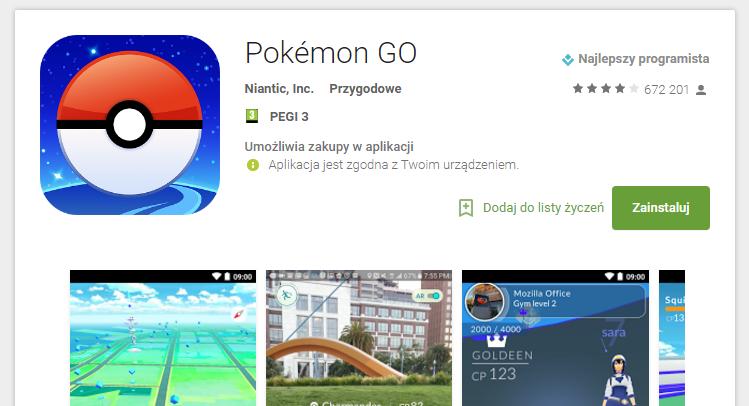 Pokemon GO oficjalnie w Polsce