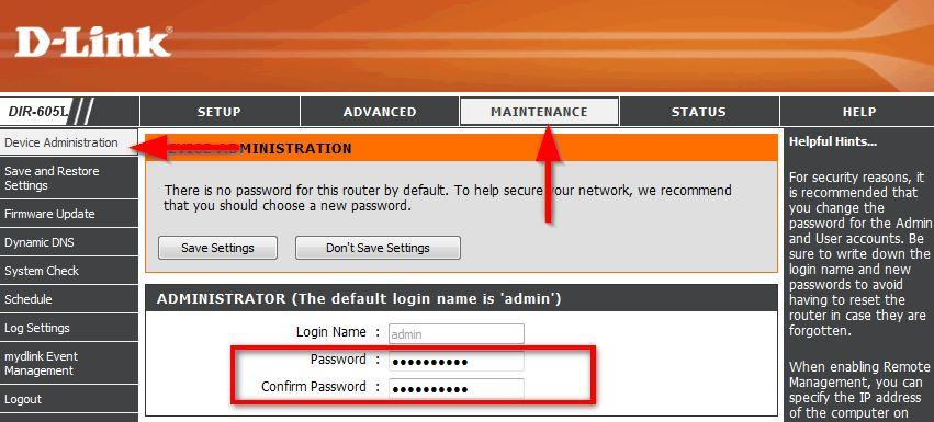 Zmiana hasła do routera D-Link