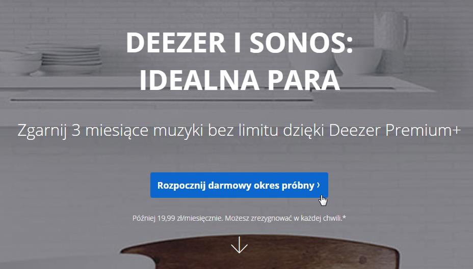Deezer Premium - aktywacja darmowego okresu