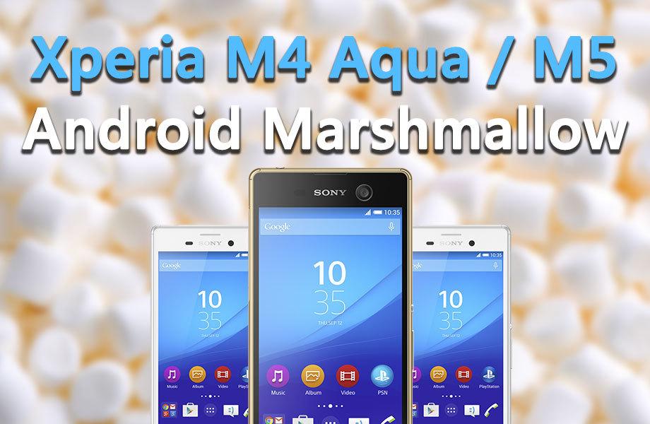 Jak zrobić aktualizację do Androida 6.0 w Xperia M4 Aqua / M5