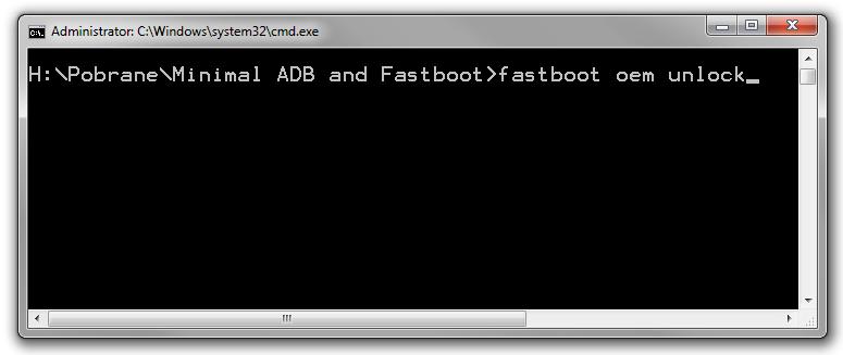 Fastboot oem unlock - odblokuj bootloader