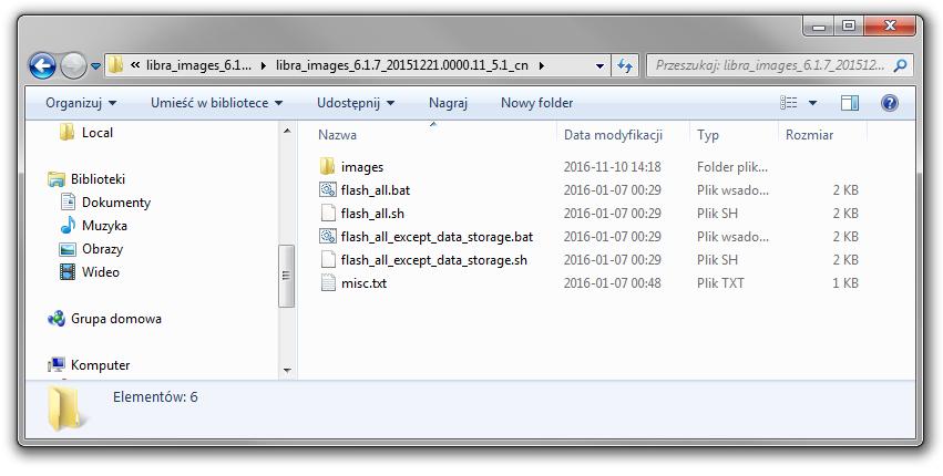 Rozpakowane oprogramowanie V6.1.7 dla Mi 4C