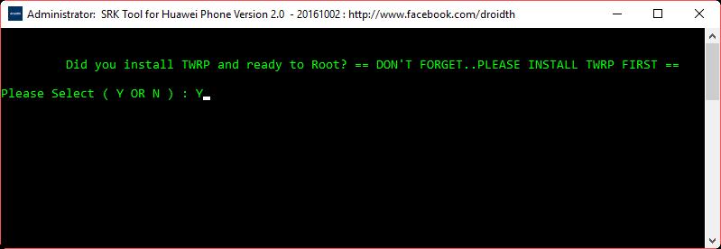 Potwierdź wykonanie roota i posiadanie TWRP