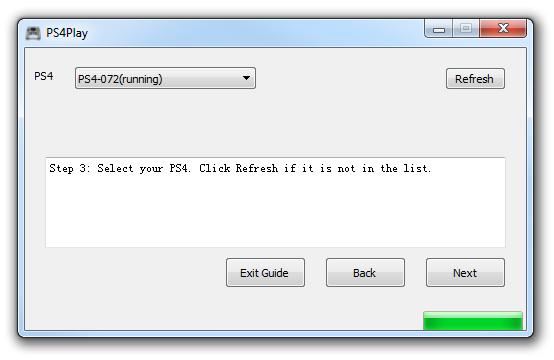 PS4Play - wybierz konsolę z listy