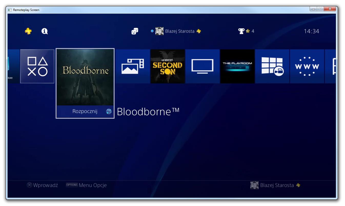 PS4Play - ekran z konsoli na PC i sterowanie klawiaturą/myszką