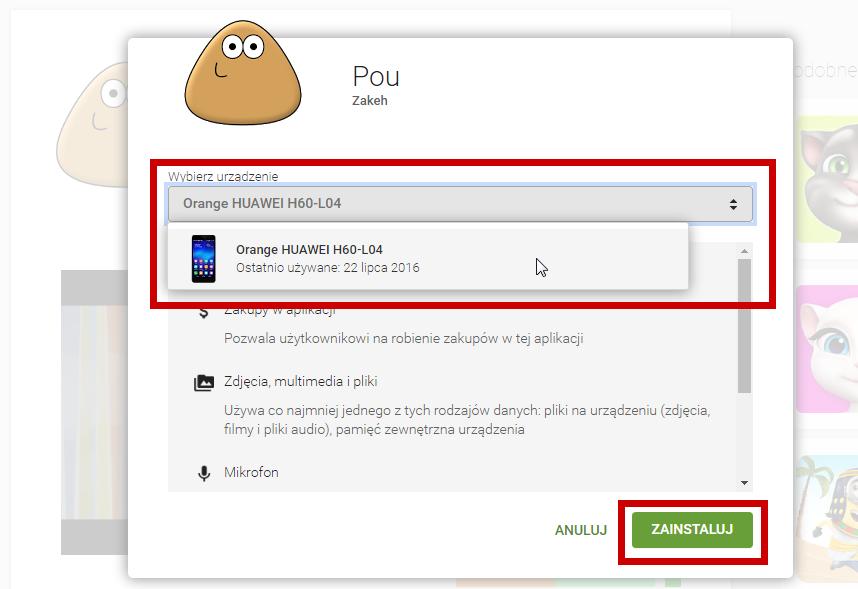 Zdalna instalacja aplikacji ze Sklepu Play