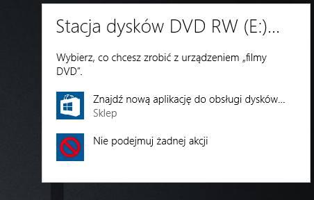 Brak aplikacji do odtwarzania DVD w Windows 10