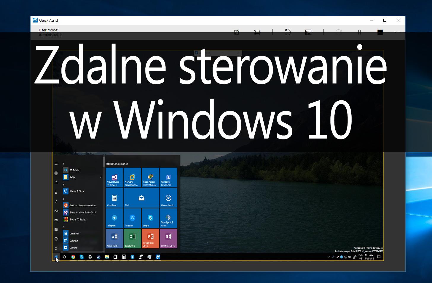 Jak zdalnie sterować komputerem w Windows 10