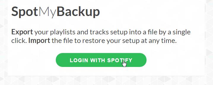 SpotMyBackup - zaloguj się na konto