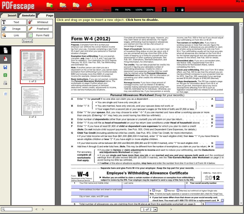 Pdfescape Free Pdf Editor Download