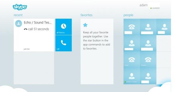 Skype for Windows 8 Leak