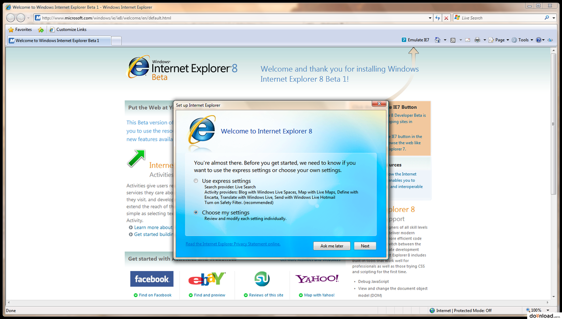 Download Internet Explorer 8 Xp