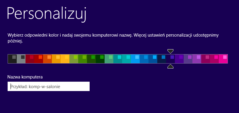 Personalizacja Windows 8.1