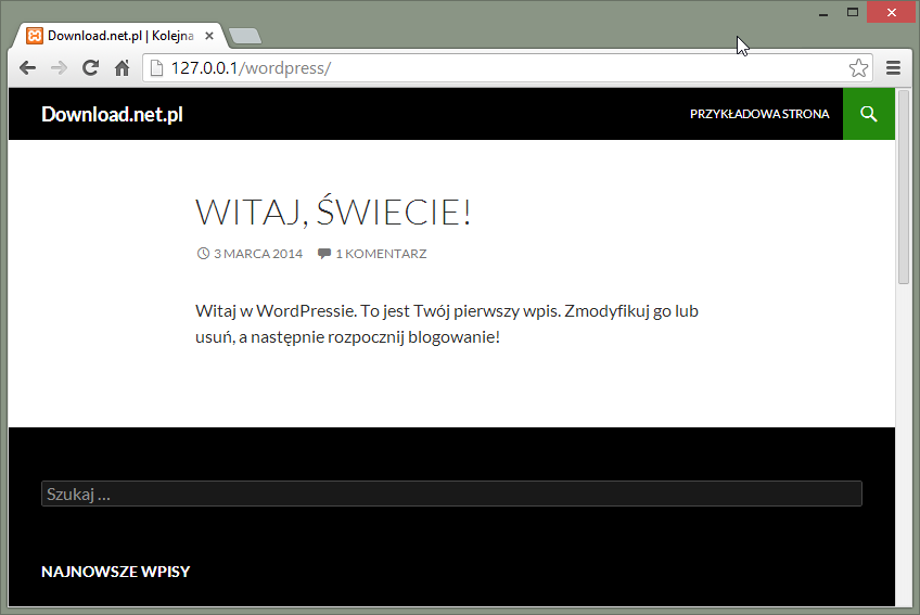 Witaj świecie! - Wordpress