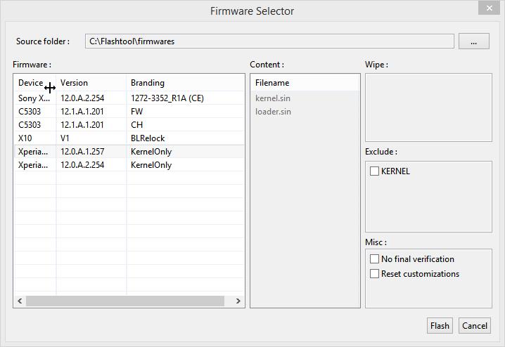 Flashowanie kernela .257