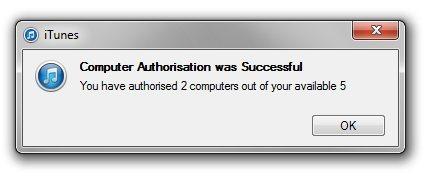 iTunes Store - potwierdzenie autoryzacji