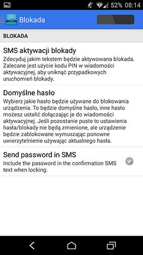 Blokada telefonu - konfiguracja