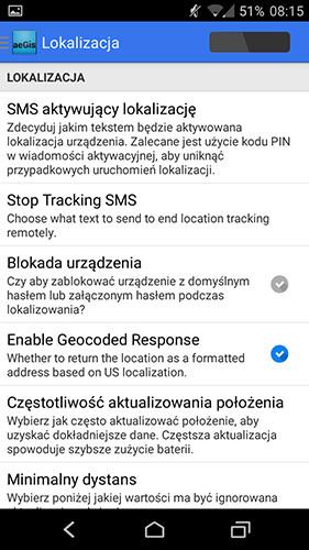 Lokalizowanie telefonu przez SMS
