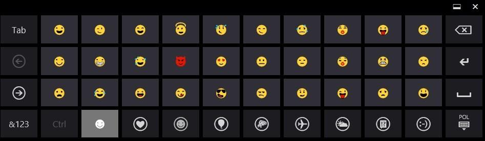 Lista dostępnych emoji