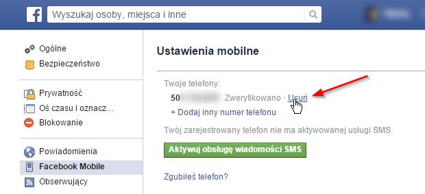 b031f7fcd7400e Jak ukryć lub usunąć numer telefonu z Facebooka