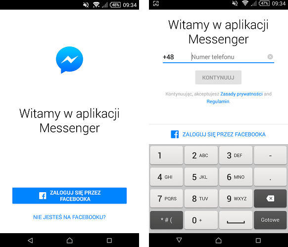 e0c5a4d7adad7f Jak korzystać z Facebook Messengera bez konta na Facebooku