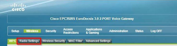 Ustawienia Wireless w routerze Cisco