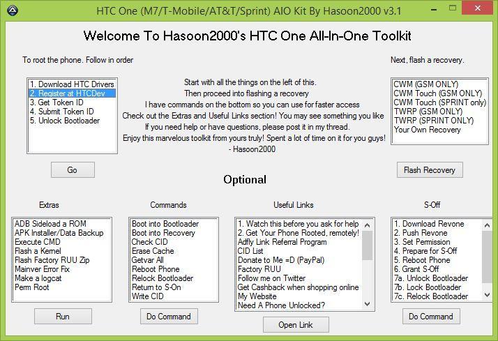 Wywoływanie rejestracji w HTCDev