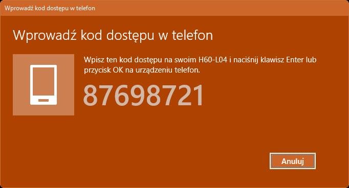 Kod dostępu Bluetooth