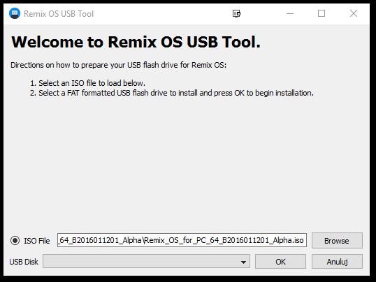 Remix OS - tworzenie bootowalnego pendrive