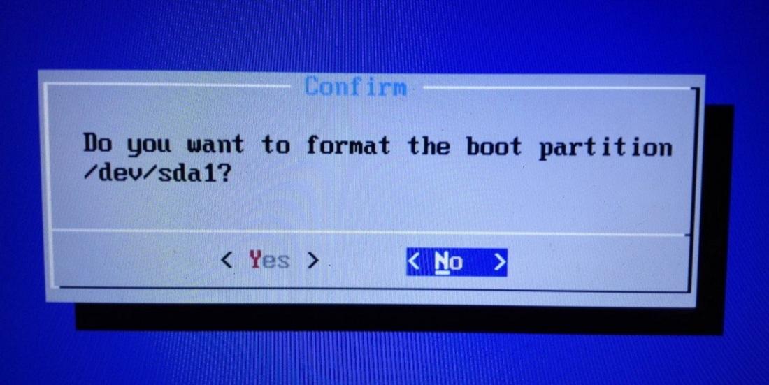 Formatowanie partycji BOOT
