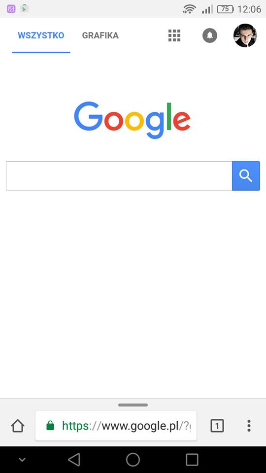 Chrome - pasek adresu na dole ekranu