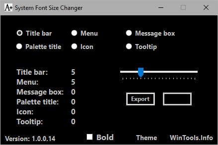 System Font Size Changer