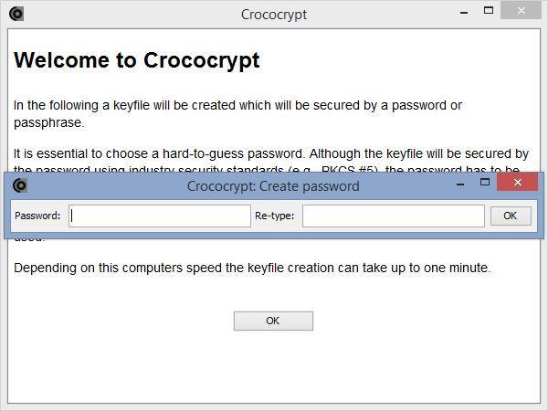 Konfiguracja hasła w Crococrypt