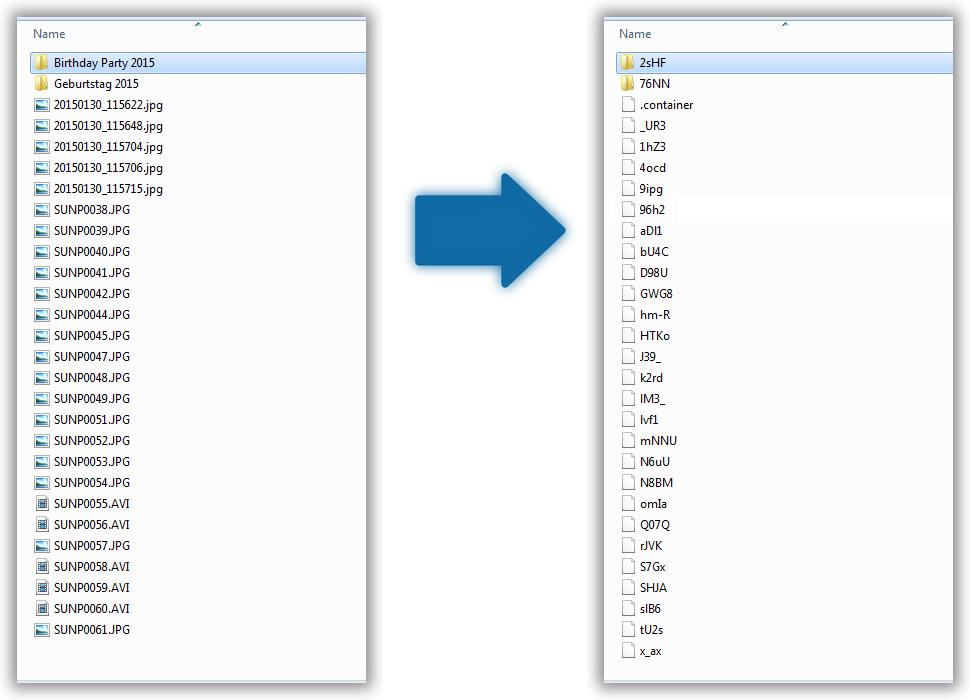 Podgląd zaszyfrowanych plików kopii zapasowej