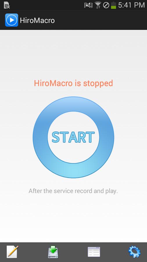HiroMacro - запуск автокликера