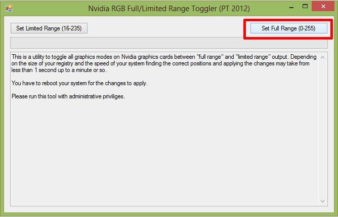 NVIDIA RGB FULL/Limited Toggler