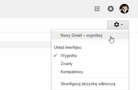 Włącz nowy interfejs Gmail